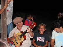 Manu Chao singing for Surf & Hope
