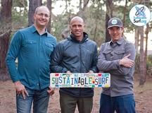 Kelly Slater with Kevin Whilden and Michael Stewart from Sustainable Surf.org