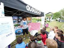 Kids with the Quiksilver Foundation